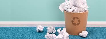 le de bureau collecte et le recyclage du papier de bureau à la peine