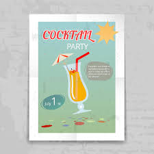 Download Vintage Cocktail Party Invitation Poster Stock Vector