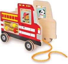 Fire Truck Pull Toy - Kiddlestix Toys