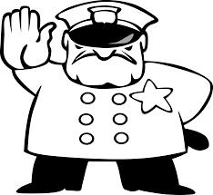 police man black white