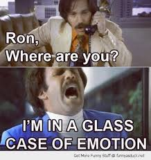 funny ron burgundy anchorman glass case of emotion funny