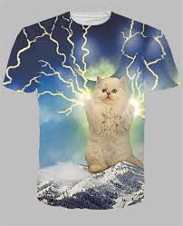 cat t shirts aliexpress buy alisister new style lightning cat t shirts 3d