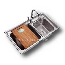 nickel brushed stainless steel kitchen sinks sinks with faucets