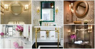 Small Rectangular Bathroom Trash Can by Wall Lamp And Toilet And Trash Bin Powder Room Design Yellow