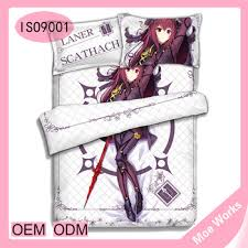 Fate Grand Order Lancer Scathach Anime Bed Cover 3d Bed Sheets