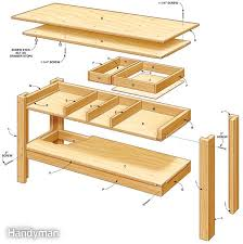 Building A Simple Wooden Desk by Simple Workbench Plans Simple Workbench Plans Garage Workbench