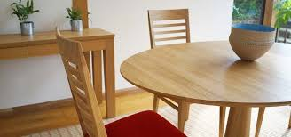 Kitchen Table Close Up Chelsea Round Dining In Oak Or Walnut Alluring Decorating Design