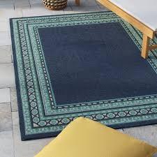 Lazuli Navy Green Indoor Outdoor Area Rug & Reviews