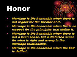 The Marriage Bed Is Undefiled by Marriage Is Honorable Ppt Download