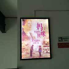A1 SLIM LED LIGHT BOX MOVIE POSTER FRAME DISPLAY CASE SINGLE SIDED HOME THEATER INDOOR WALL MOUNTED In Advertising Lights From Lighting On