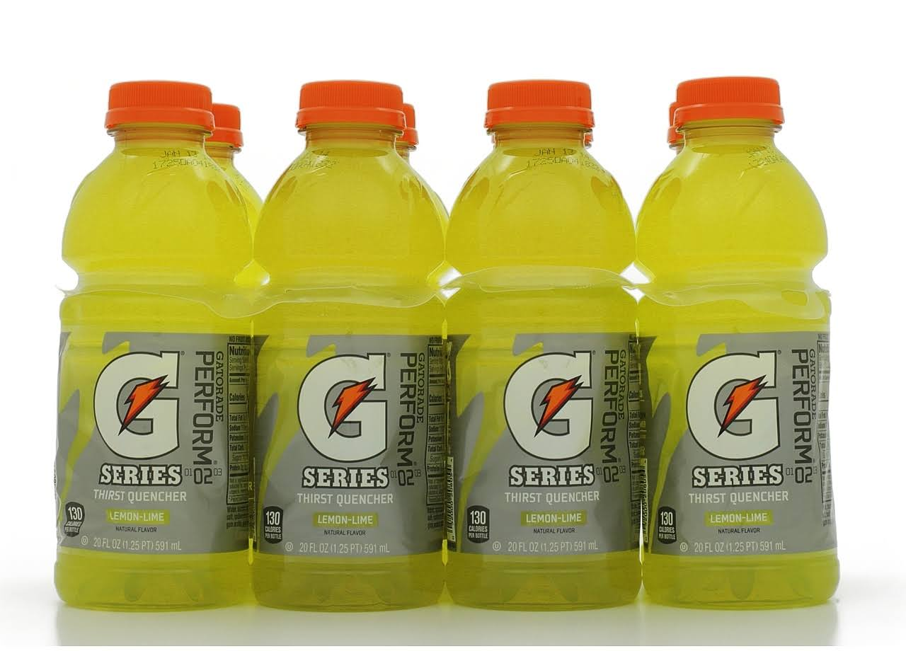 Gatorade Thirst Quencher Sports Drink - Lemon/Lime, 20oz, 8ct