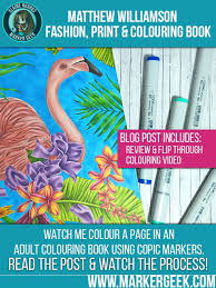 Matthew Williamson Fashion Print Colouring Book Review Click Through For The