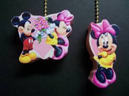 Mickey Mouse Ceiling Fan Pulls by Mickey And Minnie Mouse Pull Chain Ornaments Fan Pulls Galore