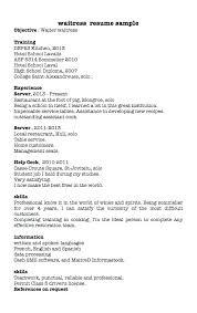 Restaurant Waitress Resume Sample Sample Restaurant Server Resume