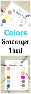 Printable Colors Scavenger Hunt For Kids