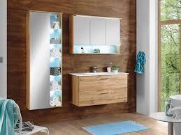 badezimmer best in wildeiche 3 teilig mit waschbeckenunterschrank inklusive becken spiegelschrank großem hängeschrank und beleuchtung badezimmer