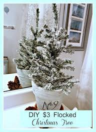 Under 3 DIY Flocked Christmas Tree