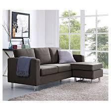 small spaces configurable sectional sofa gray dorel living