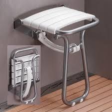 siege salle de bain siège de escamotable pellet 047631 blanc chromésanitaire