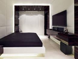Bedroom Platform Bed And Bedding With Tv Unit Design Also