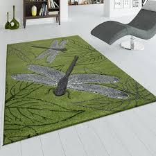 kurzflor teppich libellen design teppich wohnzimmer