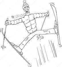 Dessin De Skieur A Colorier