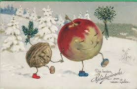 Anthropomorphic Vintage Christmas Postcard