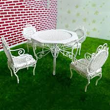 Handmade White Metal Garden Table Chairs Miniature Dollhouse ... Brompton Metal Garden Rectangular Set Fniture Compare 56 Bistro Black Wrought Iron Cafe Table And Chairs Pana Outdoors With 2 Pcs Cast Alinium Tulip White Vintage Patio Ding Buy Tables Chairsmetal Gardenfniture Italian Terrace Fniture Archives John Lewis Partners Ala Mesh 6seater And Bronze Home Hartman Outdoor Products Uk Our Pick Of The Best Ideal Royal River Oak 7piece Padded Sling Darwin Metal 6 Seat Garden Ding Set