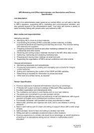 MEI Marketing and fice Administrator Job Description and Person