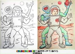 Coloring Book Corruptions Space Alien
