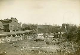 100 Paper Mill House Men Repairing The Dam At The Paper Mill In Harrisville