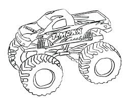 Coloring Pages For Kids Cars And Trucks Army Truck Page Printable