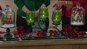 Qvc Christmas Tree With Remote by Iron Scroll Centerpiece W 3 Mercury Glass Lit Hurricanes By