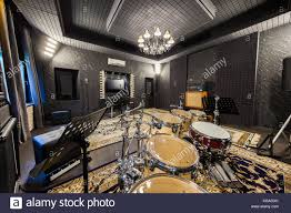 Professional Music Recording Studio With Musical Instruments