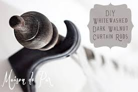 whitewashed curtain rod tutorial maison de pax