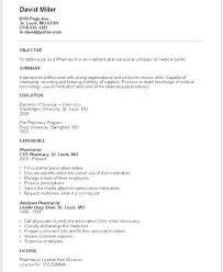 Resume Of Pharmacist Sample Pharmacists Examples Pharmacy Resumes Curriculum