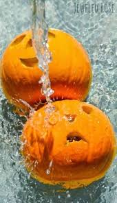 Carvable Foam Pumpkins Hobby Lobby by How To Make Glittered Pumpkin Decorations For Halloween