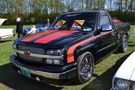 Black Chevy Pickup With Red Racing Stripes | Chevrolet | Pinterest ...