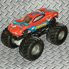 100 Spiderman Monster Truck SPIDERMAN ORIGINAL METAL BASE SMALL HUBS HOT WHEELS MONSTER JAM