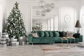 wohnzimmer idee elegantes wohnzimmer mit weihnachtsdeko