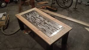 white tile finished tryde coffee table variation diy projects