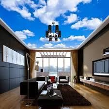 details zu 3d blue white clouds sky mural wallpaper living room ceiling lobby wall
