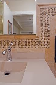 bathroom tile glass mosaic border tiles black pencil tile border