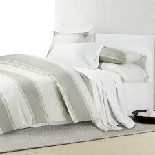 Yves Delorme Bedding by Calvin Klein Banded Net Egyptian Cotton Bedding Set Woods Fine
