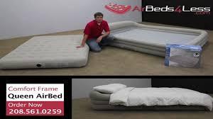 Intex Kidz Travel Bed by Intex Comfort Frame Raised Queen Air Mattress Youtube