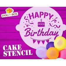 happy birthday cake stencil n 3 cake decor stencil