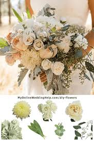 How To DIY Real Wedding Flowers Stephanys Friend Olivia Created This Beautiful Rustic Bridal Bouquet