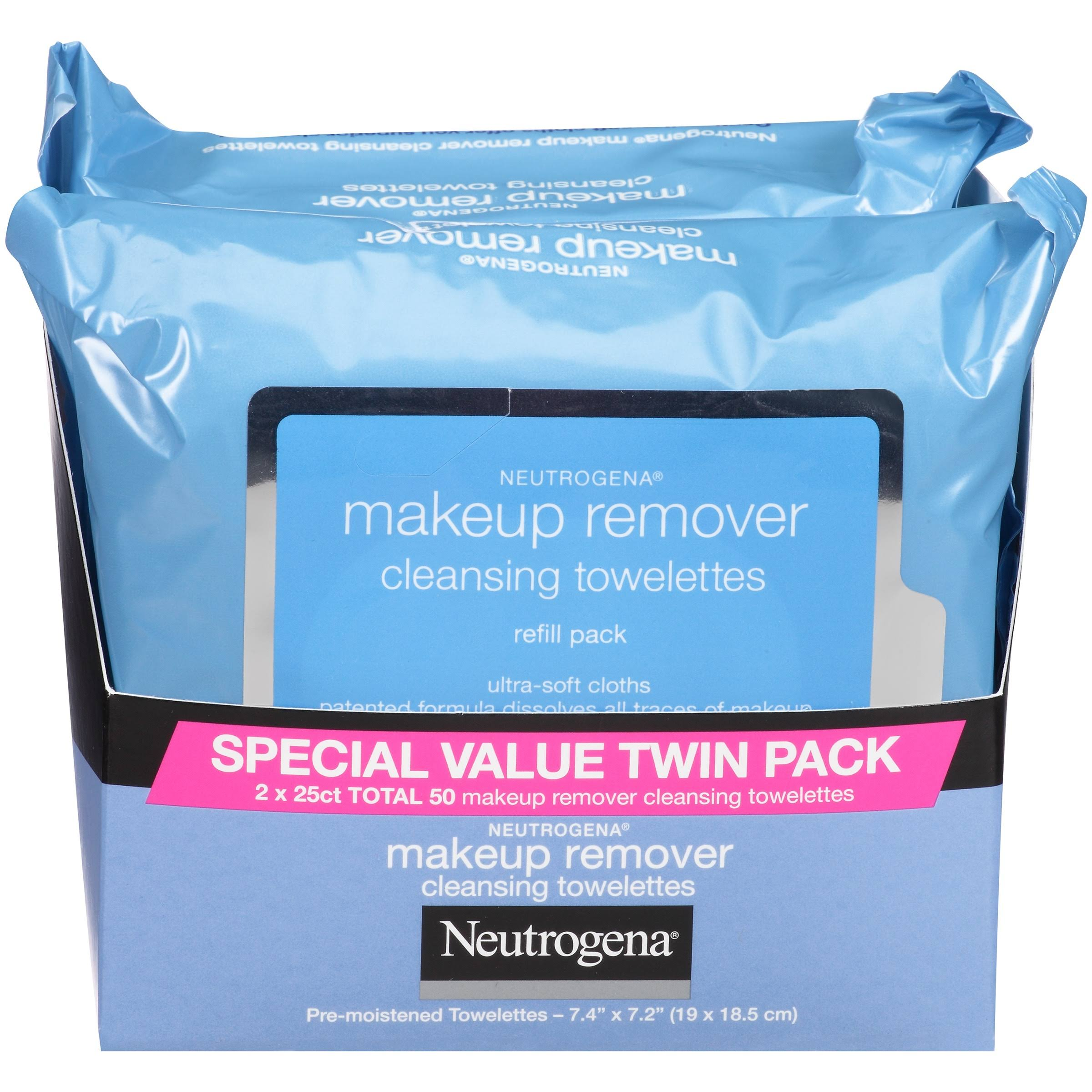 Neutrogena Cleansing Towelettes Makeup Remover Refill Pack - 50ct