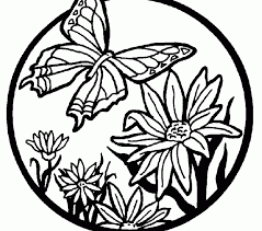 Printable Butterfly Coloring Page Butterflies Pages Best Adresebitkisel