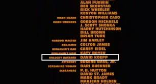His Role In The Credits Well Here It Is